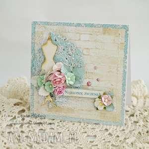 kartka urodzinowa - z manekinem - kartka-urodzinowa, kartka-imieninowa, manekin