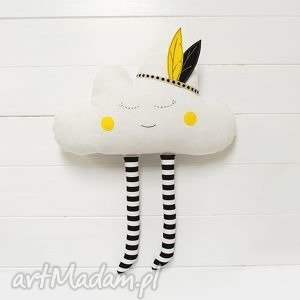 chmurka z pióropuszem - chmurka, chmura, pióropusz, zabawka, maskotka, przytulanka