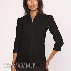 hand made bluzki lekka koszula o luźnym kroju, k110 czarny