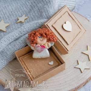 Mini kartka, Aniołek Stróż (magnes), pudełeczko - zestaw anielski na każdą okazję.,