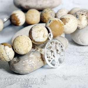 bransoletka ze srebra i jaspisów, bransoletka, minerały, kamienie, szlachetne