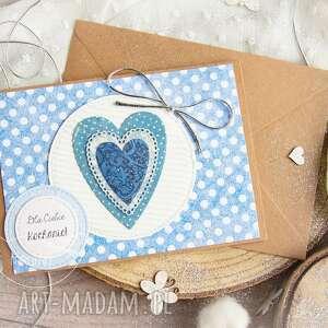 patchworkowe serce. kartka urodzinowa. kartka miłosna. dla bliskiej osoby