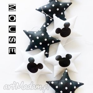 mouse - girlanda, gwiazdka, gwiazdki, myszka, pokoik dziecka