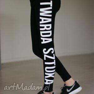 red master clothes czarne legginsy spodnie rurki push up bawełniane, spodnie