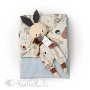 ladalla zestaw, kocyk króliczek misie i balony, zestaw prezentowy, dla chłopca