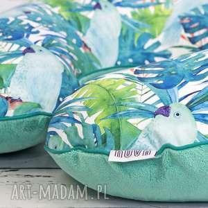 duża poduszka do karmienia papugi, poduszka, karmienia, tropikalne, haft