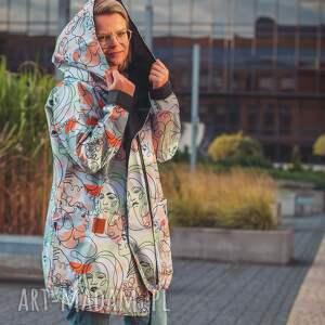 twarze oversizowy płaszcz z tkaniny wodoodpornej xs, jesienny płaszcz