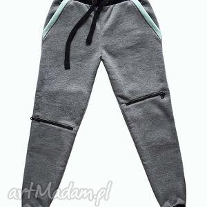 lap nas spodnie dresowe z zamkami, zamki, dresowe, dres, mieta, prezent, modne