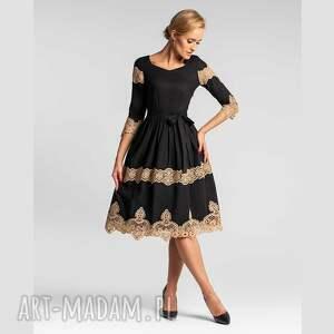 sukienki sukienka theresa midi faustina, wieczorowa sukienka, bawełna