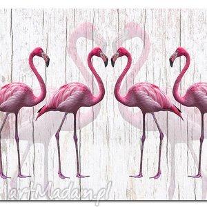 obraz xxl FLAMING 2 - 120x70cm na płótnie flamingi, obraz, ptaki, ptak