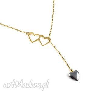 Poplavsky naszyjnik heart serce srebro pozłacane naszyjniki