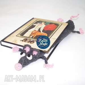 pomysł na upominek święta Zakładka do książki- szczurek, czytanie, szczur