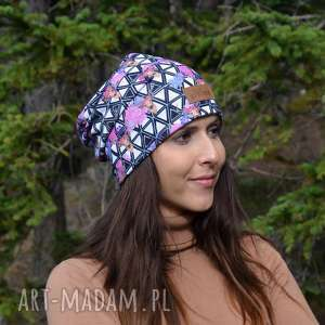 czapki czapka w jelonki kolorowa beanie, czapka, ciepła jelonek
