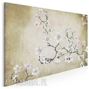 obraz na płótnie - kwiaty orient japonia 120x80 cm 50901, wiśnia