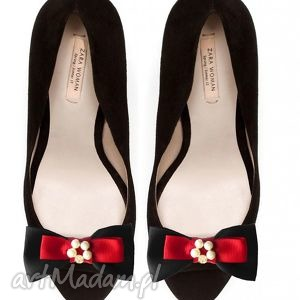sigma - klipsy do butów, perły, kokardy, klipsy, spinki, buty, ozdoby