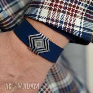 ręcznie wykonane bransoletki bransoletka skórzana magnetoos magnifico etny navy blue