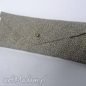 ręcznie wykonane etui piórnik skóra naturalna koperta wężowa