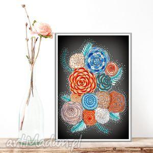 wyjątkowe prezenty, kwiaty a3, kwiaty, kwiecisty, plakat, rysunek, obraz