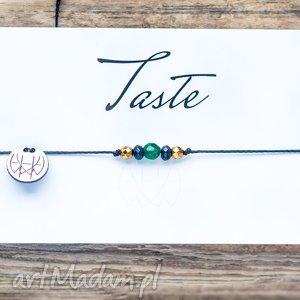 WHW Taste Tiny Jades, sznurkowa, sznureczkowa, jadeit, fasetowany, delikatna, makrama