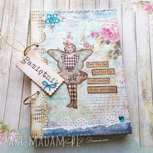 stylowy pamiętnik na sekretne zapiski, pamiętnik, notes, motyl, gwiazdy