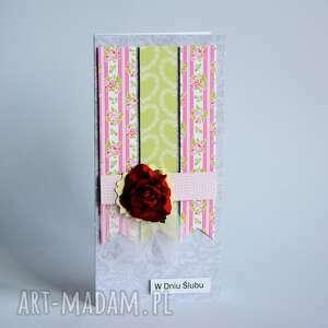 kartka - w dniu ślubu 1, kartka, ślub, miłość, oddanie, scrapbooking, delikatna