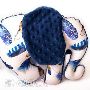 słoń piórka granat, dziecko, zabawka, słoń, maskotka, przytulanka, niemowle zabawki