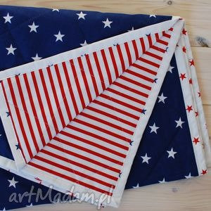 bywkml narzuta w amerykańskim stylu 130x230cm, narzuta, gwiazdy, amerykańska, paski