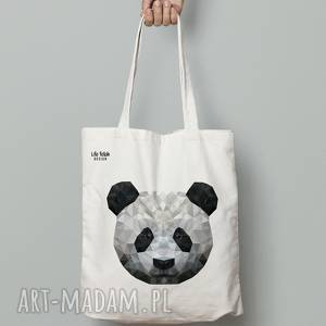 Torba bawełniana panda life fetish design panda, torebka, torba