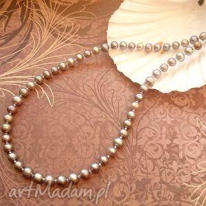 srebro pereł - elegancki naszyjnik, perły, perła, naturalna, eleganckie