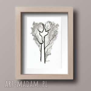 obrazek a4 malowany ręcznie, minimalizm, abstrakcja czarno-biała, grafiki