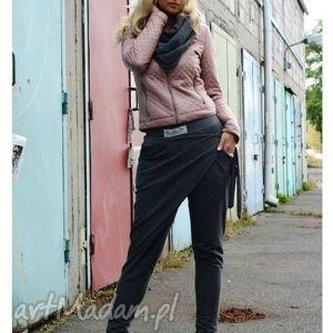 spodnie oliolo dresowe wiązane oversize, dresowe, szare, wiązane, zakładka