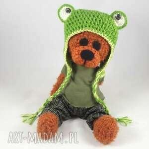 Żabek - szydełkowy miś zabawki wernika miś, czapka-żaba
