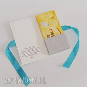 scrapbooking kartki kartka czekoladownik koniec roku szkolnego, czekoladownik