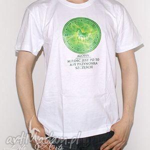koszulka bawełniana - miłość jest po to, aby przynosiła szczęście rozmiar l