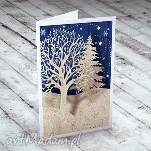 pomysł na świąteczne prezenty ZIMOWY LAS... KARTECZKA NA ŻYCZENIA, bożonarodzeniowe