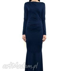 sukienki suknia milli maxi - navy blue, suknia, długa, wieczorowa