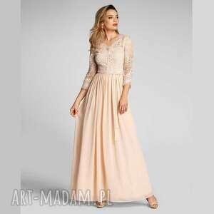 sukienka kolia maxi josefina vanillia, maxi, elegancka
