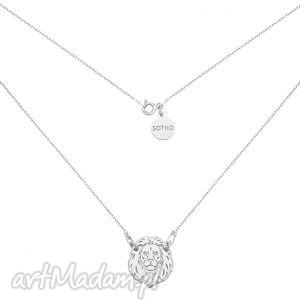 ręcznie robione naszyjniki srebrny naszyjnik z lwem