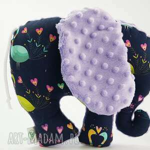 Słoń PAWIE fioletowy, przytulanka, słoń, słonik, maskotka