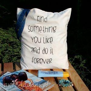torba z dowolnym ręcznie wykonanym napisem, eko, rysunek, napis, blogerek