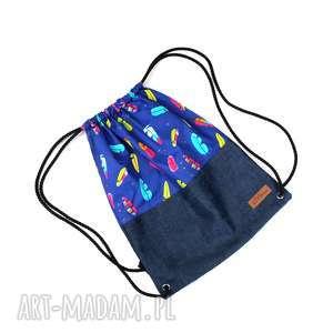 worek plecak kolorowy piórka, worek, plecak, mocny, prezent, kolorowy