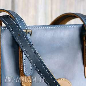 Duża pojemna Torba ze skóry naturalnej - Avia , torba-ze-skóry, prawdziwa-skóra