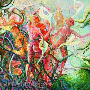 w dzikim ogrodzie, erotyka, fantastyka, akt, kobiety, egzotyka, ogród obrazy