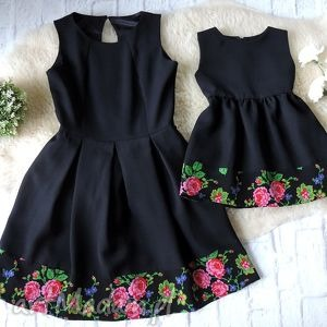 góralska sukienka dla mamy i córki folk cleo, sukienka, mama, córka, komplet