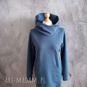 tuniki tunika/sukienka s/m, tunika z kapturem, dresowa tunika, bluza damska