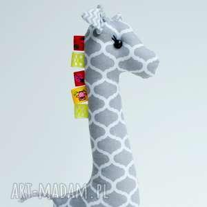 żyrafka metkowiec, żyrafka, metka, niemowlę, żyrafa, skandynawski