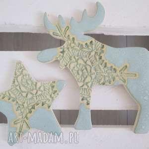 magnesy zestaw miętowych magnesów zimowych, magnesy, świąteczne, ozdoby