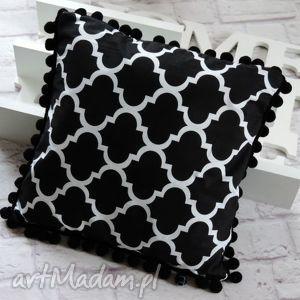 poduszki poduszka dekoracyjna z pomponami maroko 40/40, poduszka