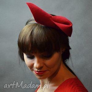 ozdoby do włosów faworek czerwony, filc, czerwień, opaska, unikalny prezent