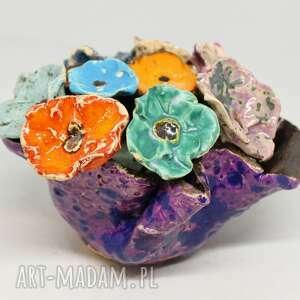 Flower box kwiaty ceramiczne i donica piękny duży wyjątkowy
